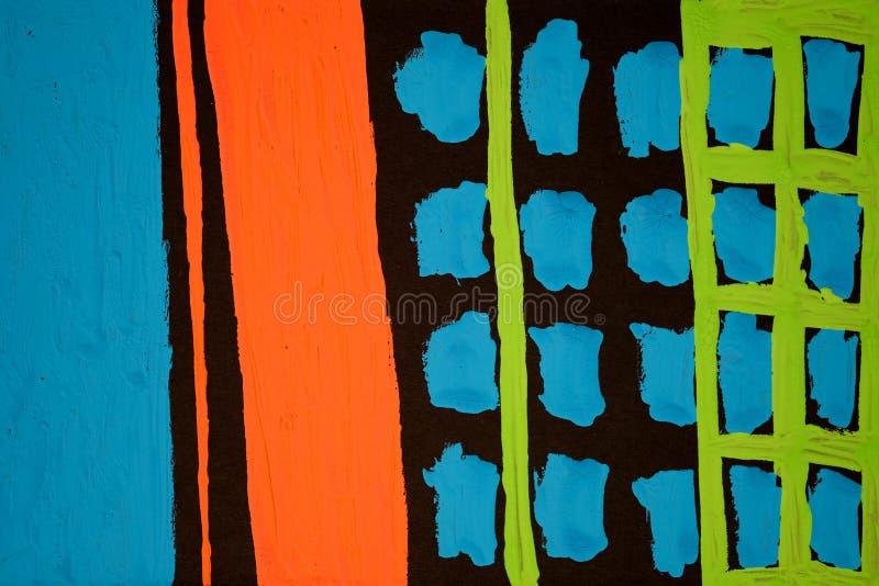 Textura, fondo e imagen colorida de una pintura abstracta original fotografía de archivo