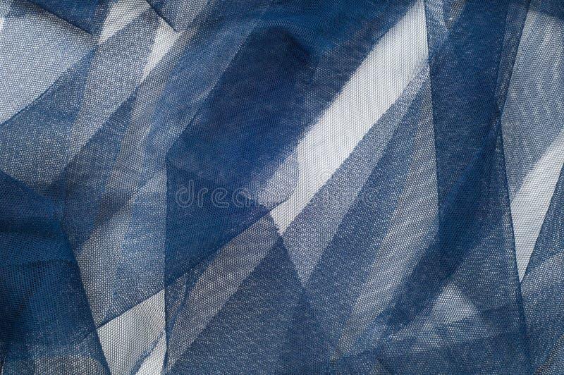 Textura, fondo, modelo Blue Ribbon en una pequeña rejilla wide imagen de archivo libre de regalías