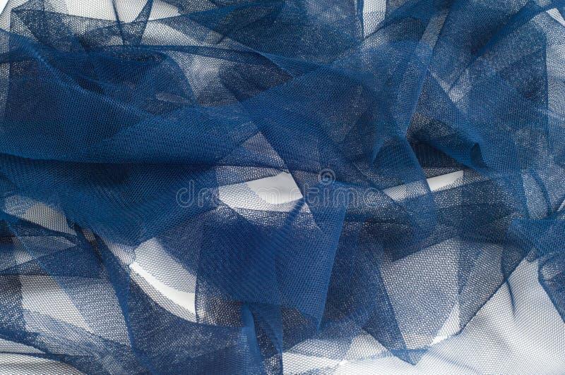 Textura, fondo, modelo Blue Ribbon en una pequeña rejilla wide fotografía de archivo libre de regalías