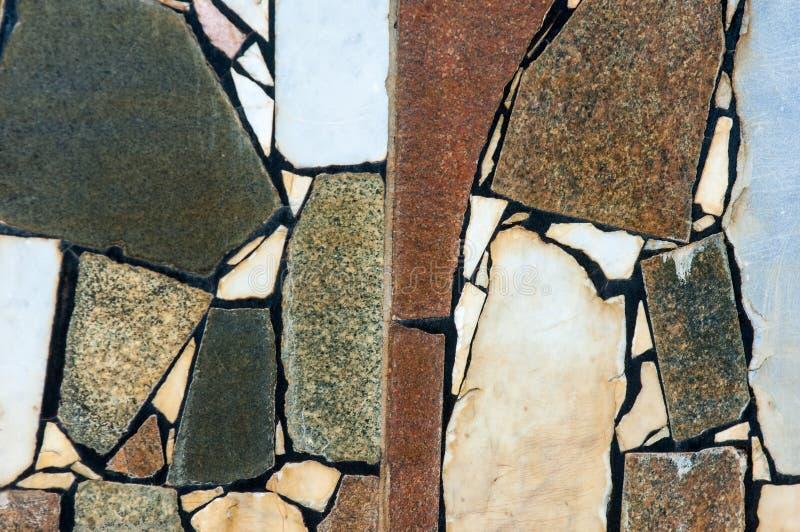 Textura, fondo, modelo Guarnición de la piscina vieja Granito sl imagen de archivo