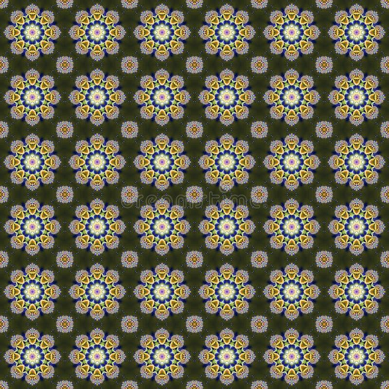 Textura fractal abstracta sin soldadura que consiste en hermosas flores abstractas fotos de archivo libres de regalías