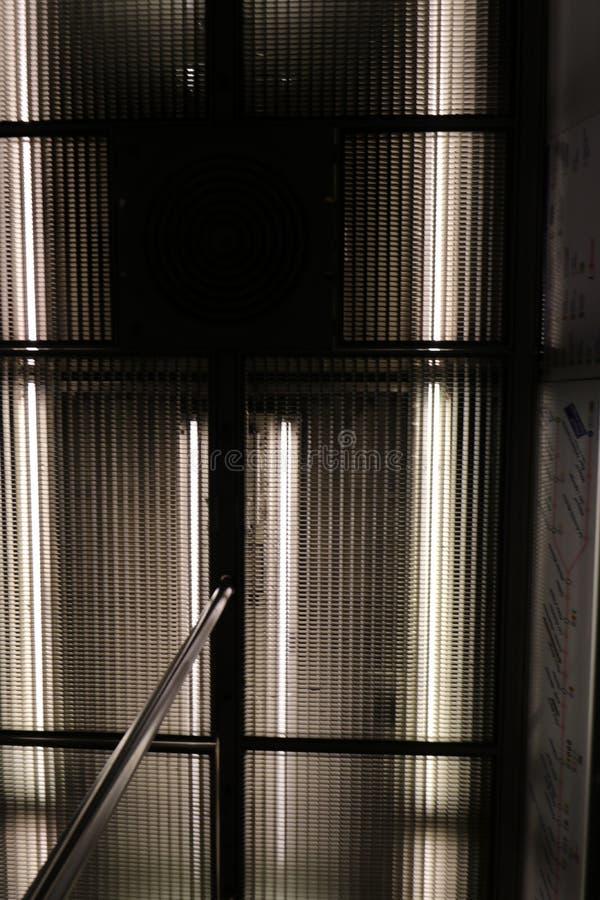 Textura fresca de la lámpara sub de la manera como metal del fondo mech fotos de archivo