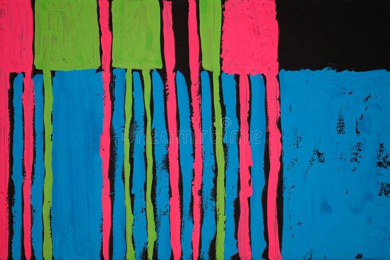 Textura, fundo e imagem colorida de uma pintura abstrata original foto de stock