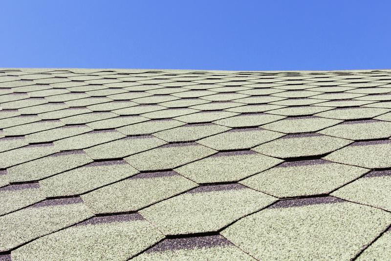 Textura, fundo, teste padrão Telhas de telhado flexível, macio, betuminoso, composto fotos de stock royalty free