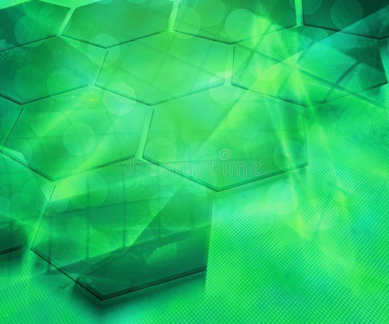 Textura futura abstracta del fondo del verde de la ciencia libre illustration