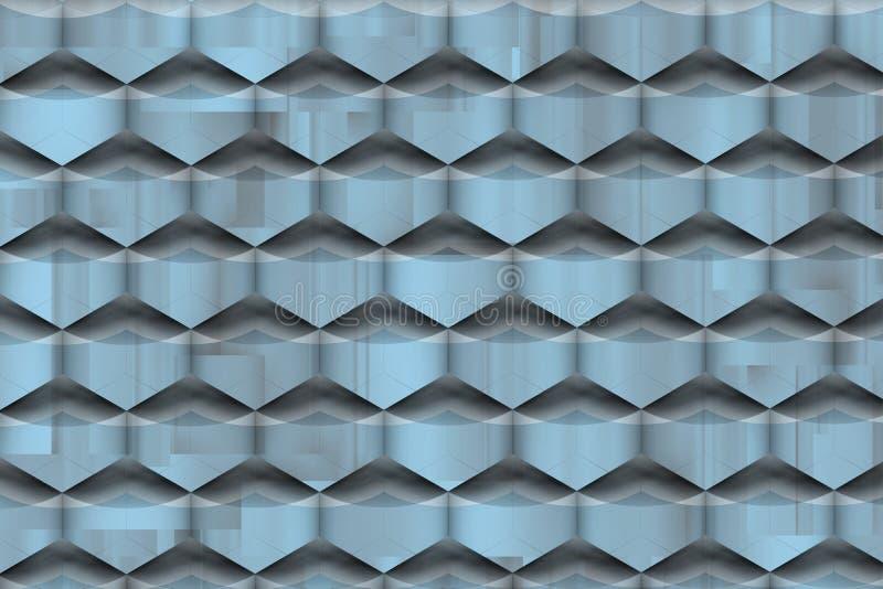 Textura futurista com sombras azuladas macias ilustração stock