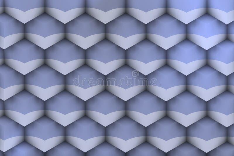 Textura futurista com sombras violetas macias ilustração stock