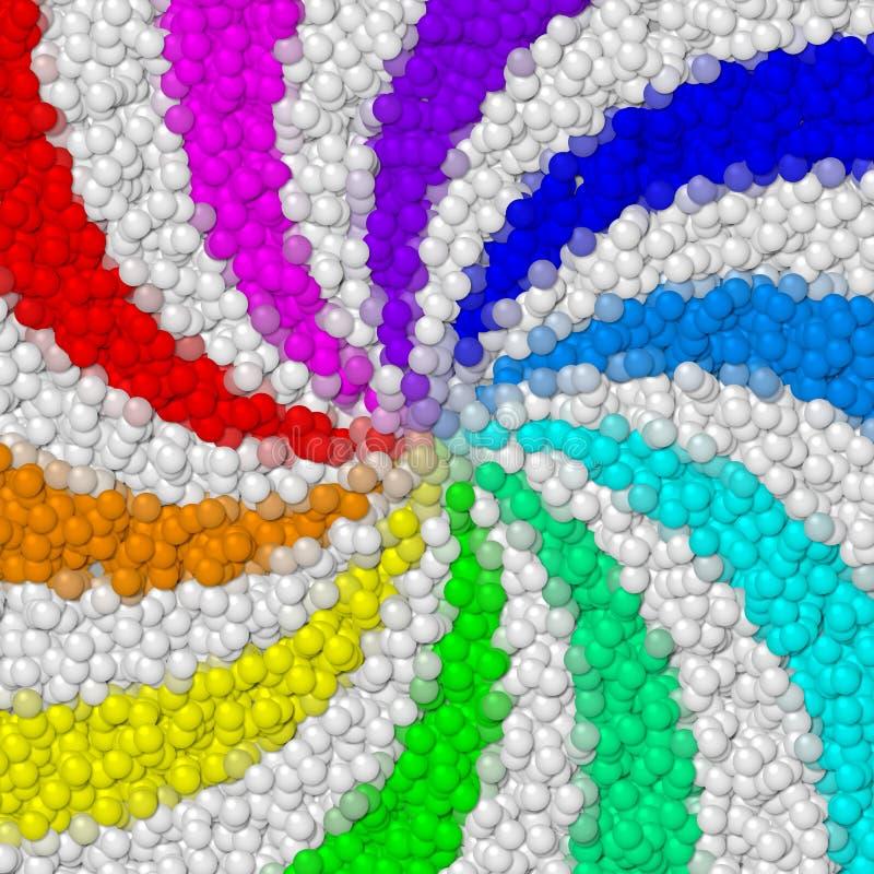 Textura generada bolas de los alquileres de la imagen del remolino del arco iris stock de ilustración