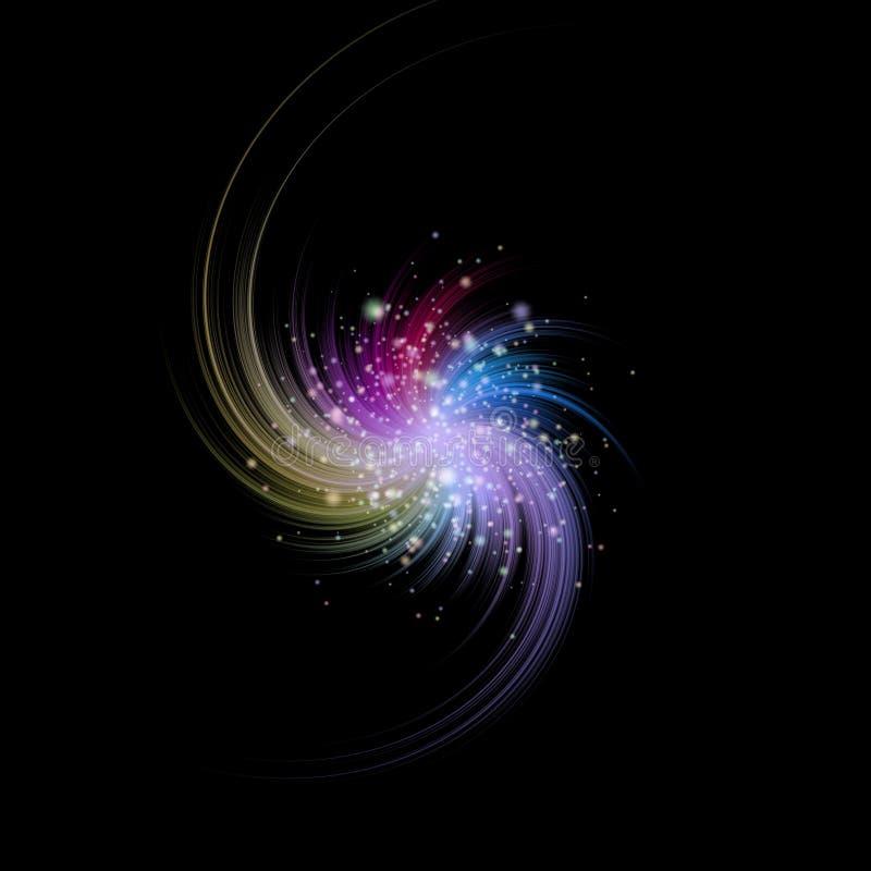 Textura generada estrella de los alquileres de la explosión stock de ilustración