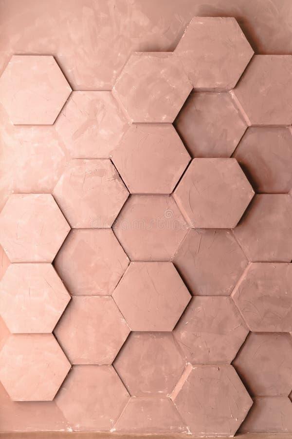 Textura geométrica abstracta del muro de cemento Fondo concreto del panal imagenes de archivo
