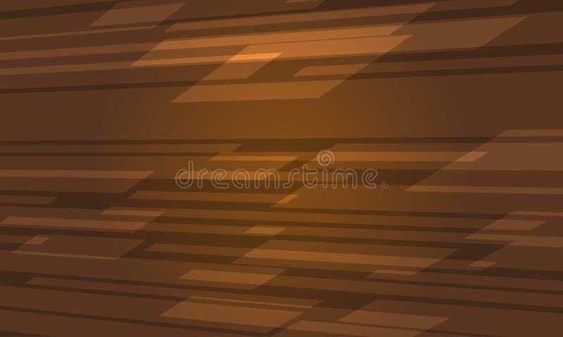 Textura geométrica abstrata moderna do fundo de Brown ilustração stock