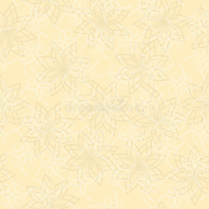 Textura geométrica bege com ondas ilustração stock