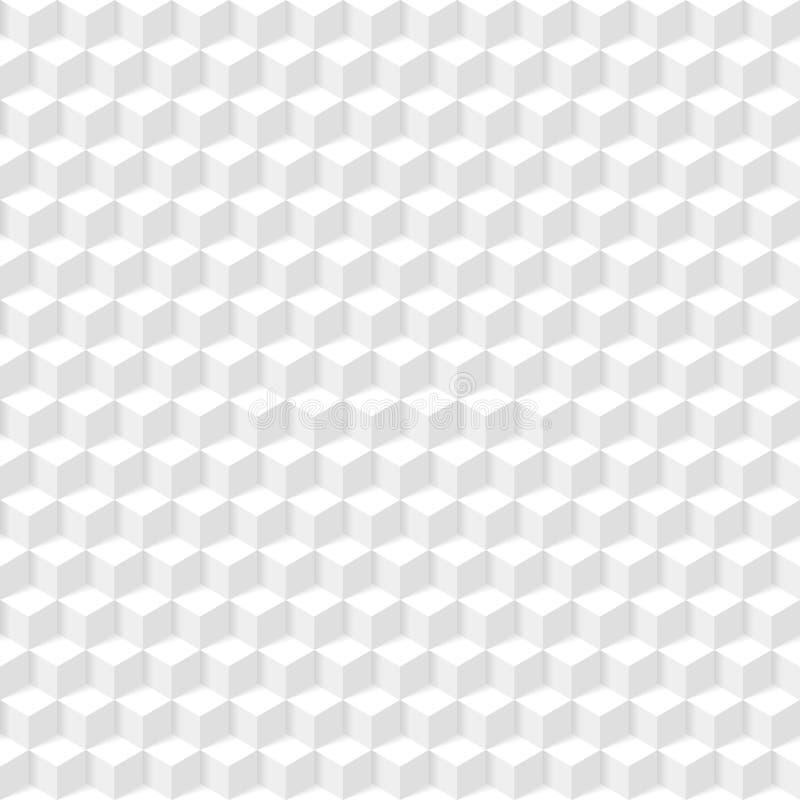 Textura geométrica blanca ilustración del vector