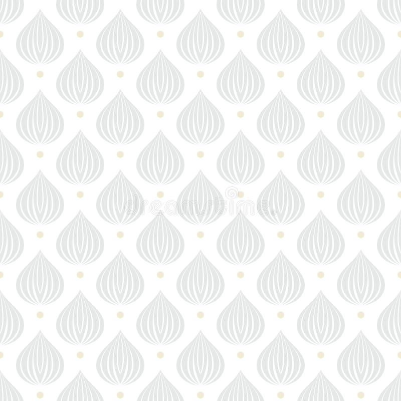 Textura geométrica branca com gotas ilustração do vetor