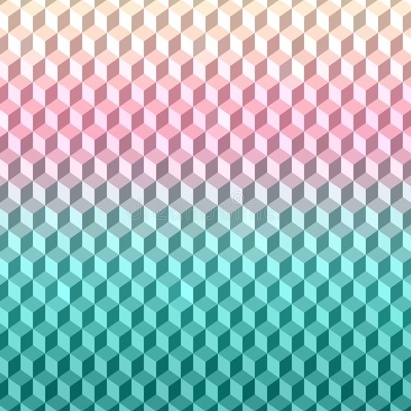 Textura geométrica del fondo modelo del vector 3D stock de ilustración