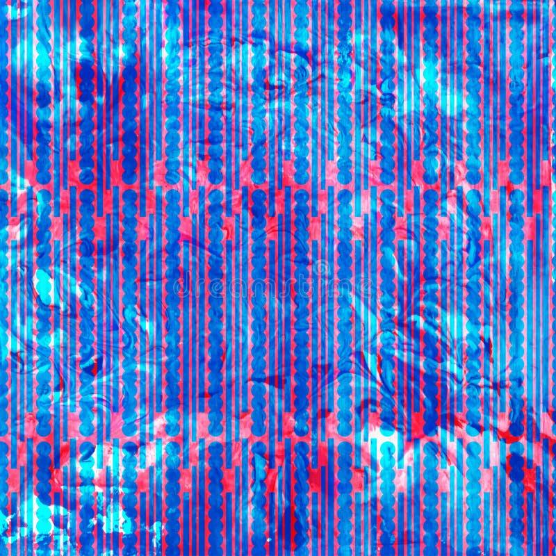 Textura geométrica del mármol colorido abstracto de la acuarela libre illustration