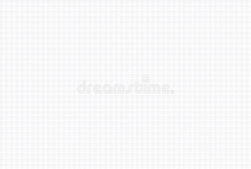 Textura geométrica inconsútil blanca - pequeños cuadrados ilustración del vector