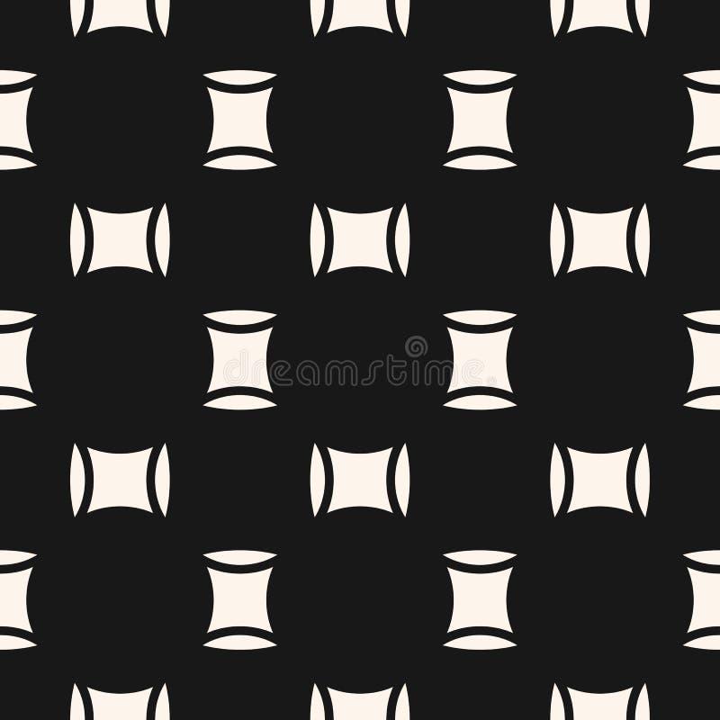 Textura geométrica monocromática simples com quadrados, formas ovate Fundo preto e branco m?nimo do sum?rio ilustração royalty free