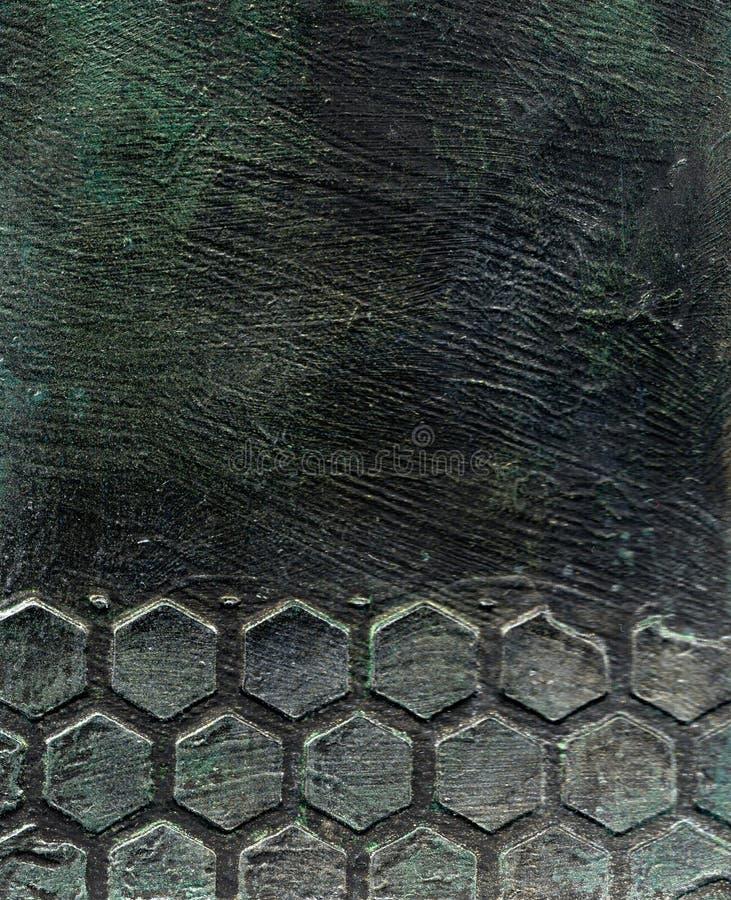 Textura grabada en relieve metal imágenes de archivo libres de regalías