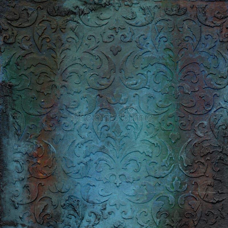 Textura grabada en relieve metal oxidado fotos de archivo libres de regalías