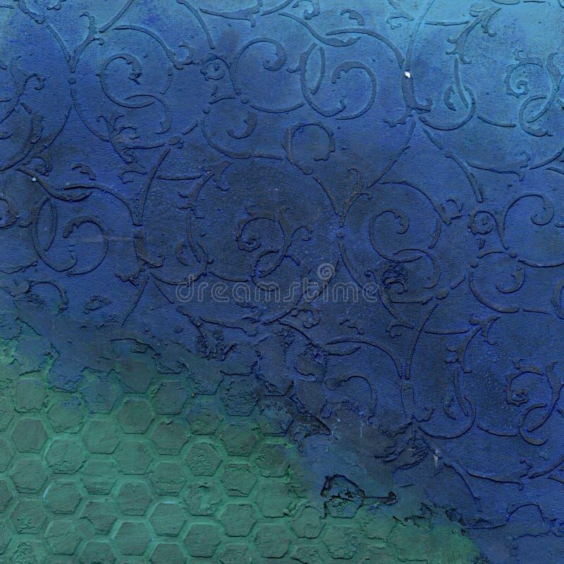 Textura grabada en relieve metal oxidado imágenes de archivo libres de regalías
