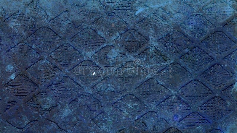 Textura grabada en relieve metal oxidado fotografía de archivo libre de regalías