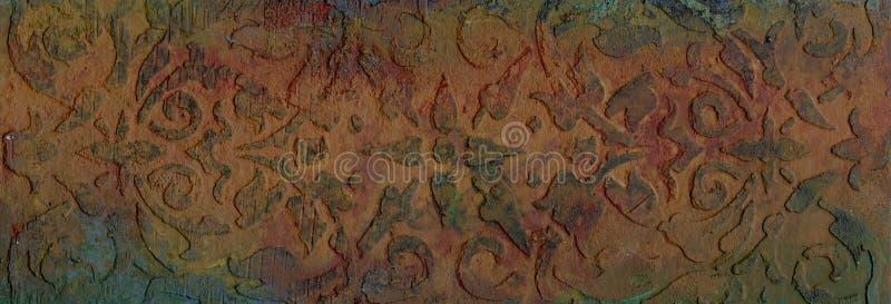 Textura grabada en relieve metal oxidado imagenes de archivo