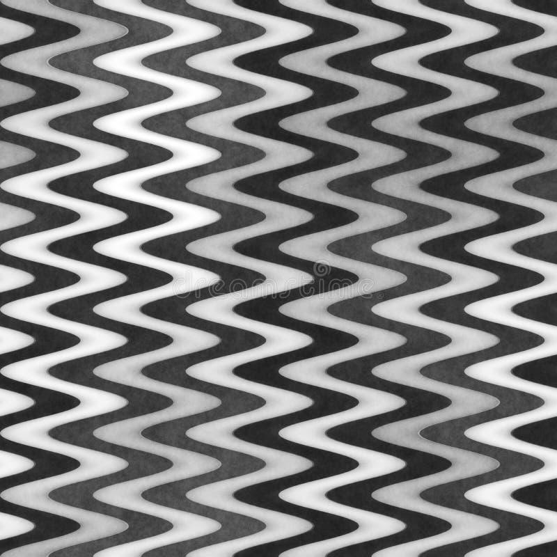 Textura Greyscale sem emenda da quadriculação Linhas onduladas teste padrão do inclinação Fundo abstrato subtil fotografia de stock
