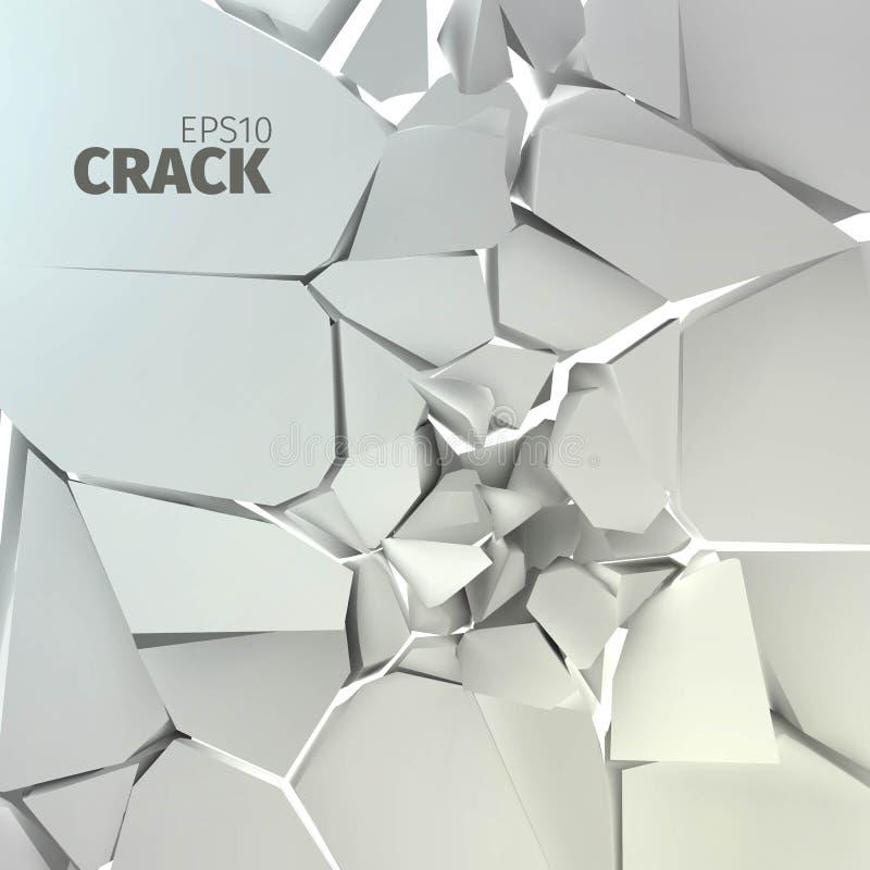 Textura gris agrietada de la roca Fondo de la superficie de Fractrure fotografía de archivo libre de regalías