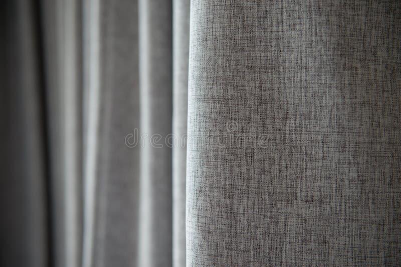 Textura gris de la cortina imágenes de archivo libres de regalías
