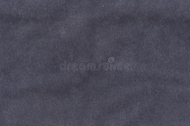 Textura gris de la toalla de baño para el fondo y el diseño fotografía de archivo libre de regalías