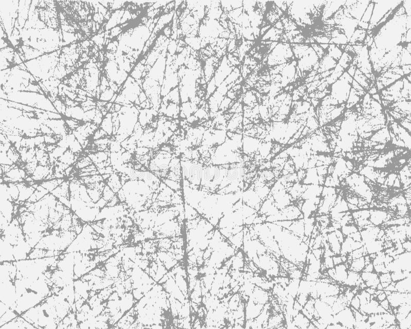 Textura gris del Grunge en el fondo blanco El efecto de rasguñado, papel del vintage Capa del ejemplo del vector para su diseño libre illustration