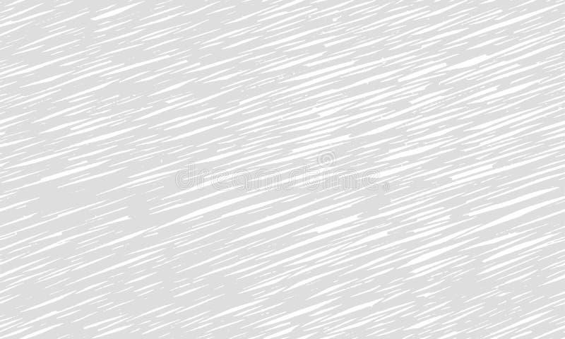Textura gris del modelo de los movimientos que repite monocromo inconsútil líneas finas blanco negro monocromático Mano drenada h ilustración del vector