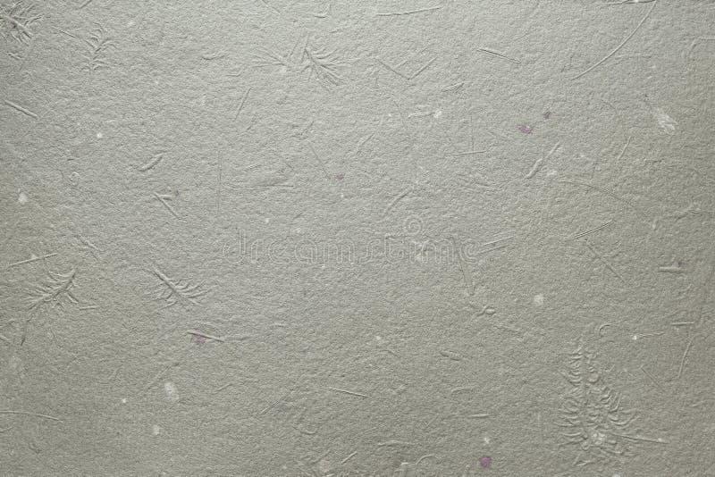 Textura hecha a mano gris del papel japonés foto de archivo libre de regalías