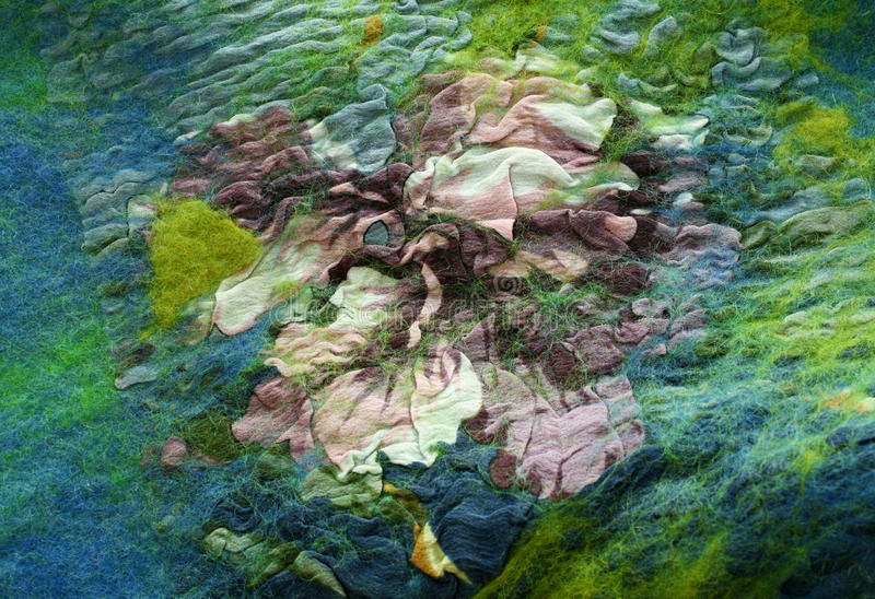 Textura hecha a mano hermosa del fieltro foto de archivo