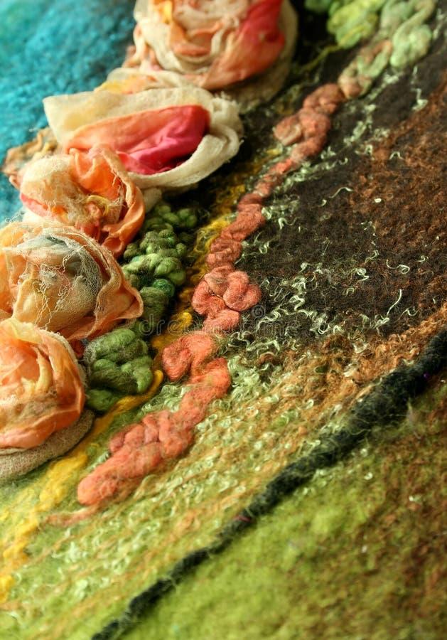 Textura hecha a mano hermosa del fieltro - fondo foto de archivo