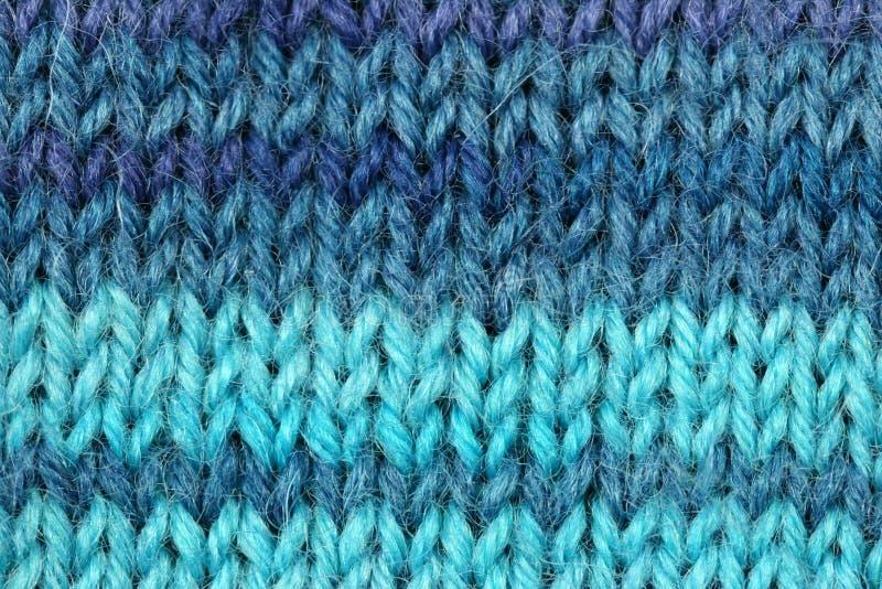 Textura hecha punto de las lanas foto de archivo