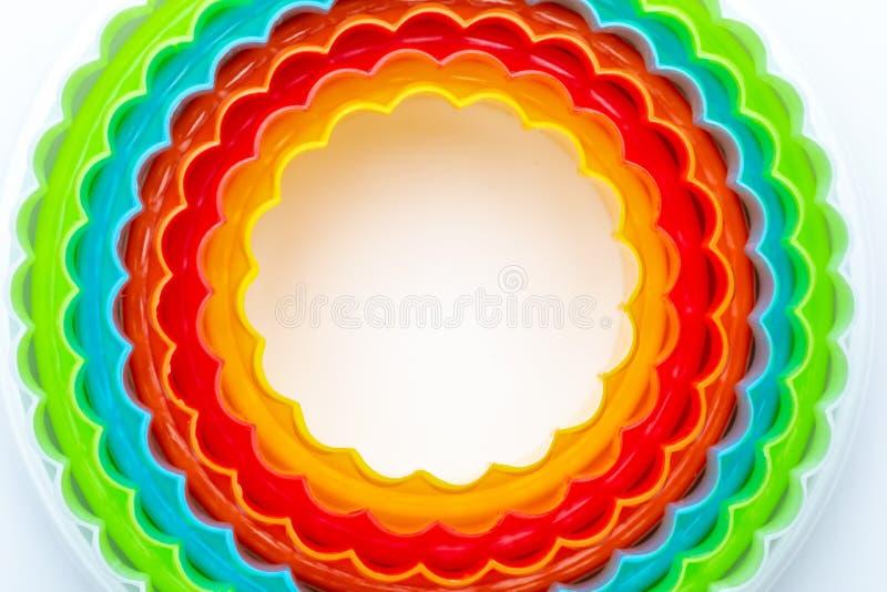 Textura hermosa con los círculos concéntricos con los colores del arco iris libre illustration