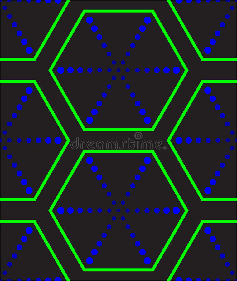 Textura hexagonal futurista ilustración del vector