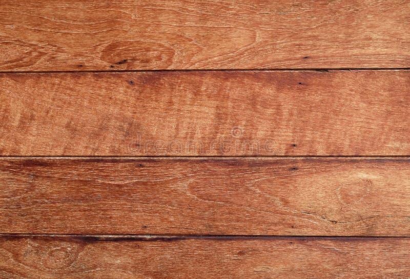 Textura horizontal de Brown del fondo de madera del grano imágenes de archivo libres de regalías
