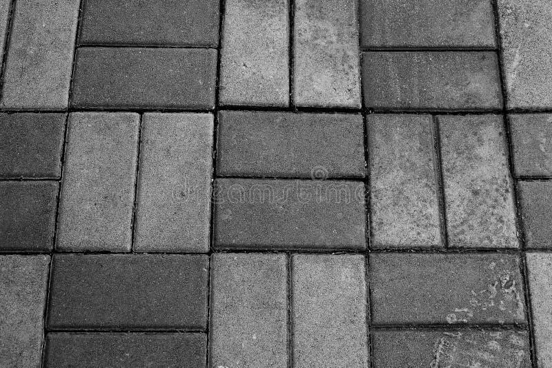 Textura horizontal de Gray Brick Footpath imagen de archivo libre de regalías