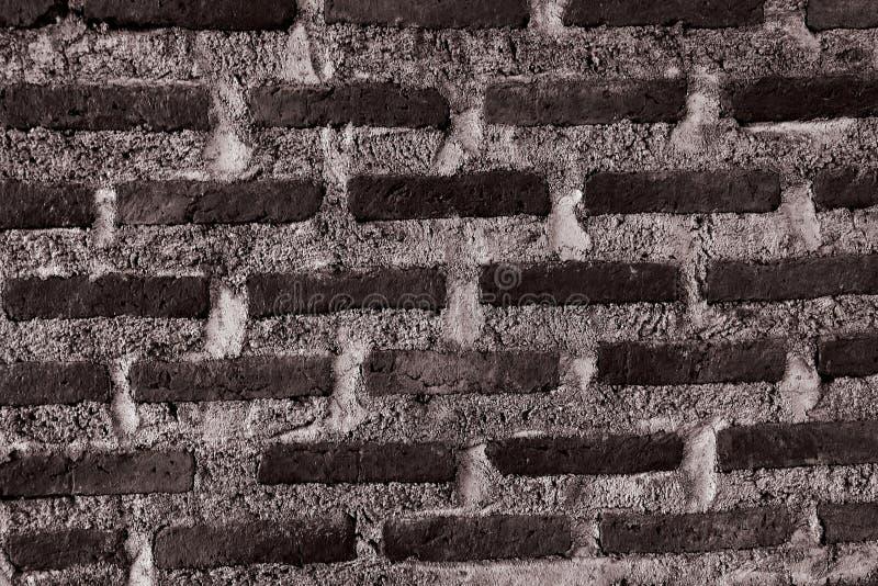 Textura horizontal de la pared de ladrillo negra fotos de archivo libres de regalías