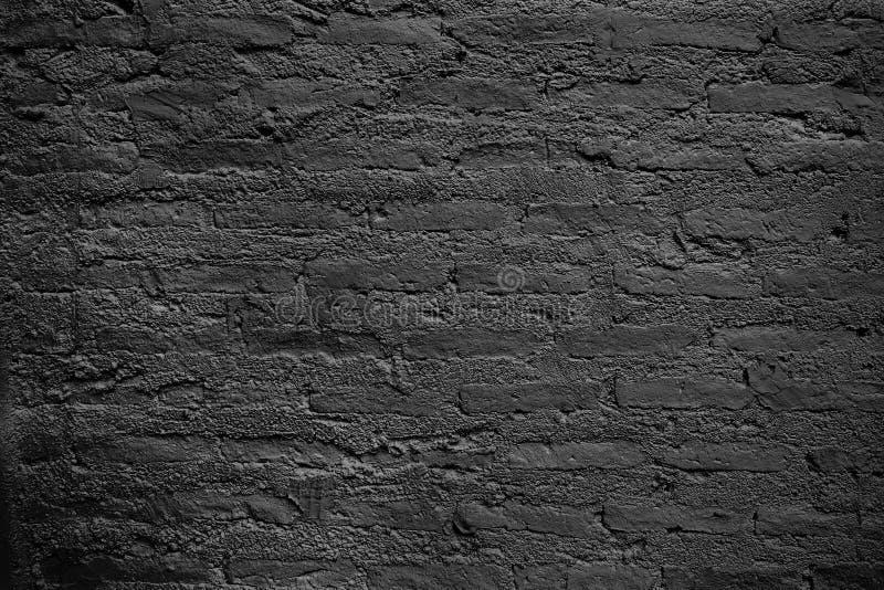 Textura horizontal de la pared de ladrillo negra imagen de archivo