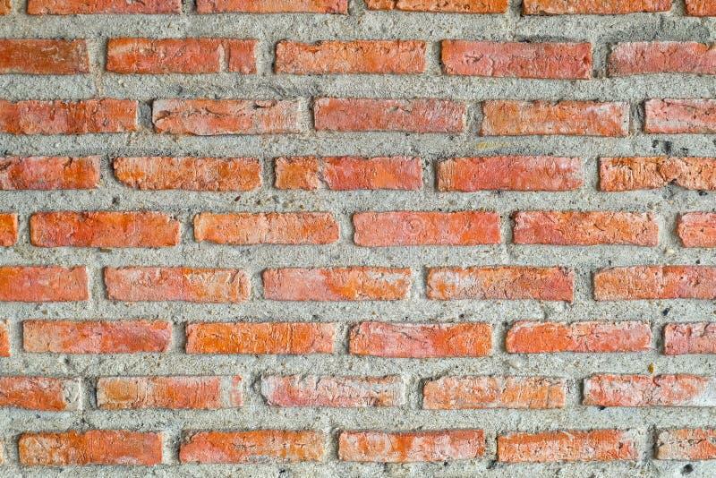 Textura horizontal de la pared de ladrillo roja imagen de archivo libre de regalías