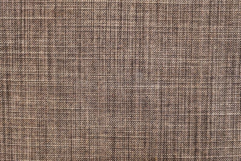 Textura horizontal del fondo del modelo de la materia textil de Brown fotografía de archivo libre de regalías
