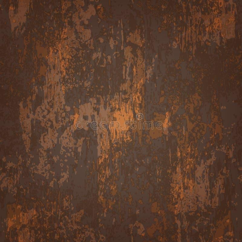 Textura inconsútil abstracta del metal aherrumbrado ilustración del vector