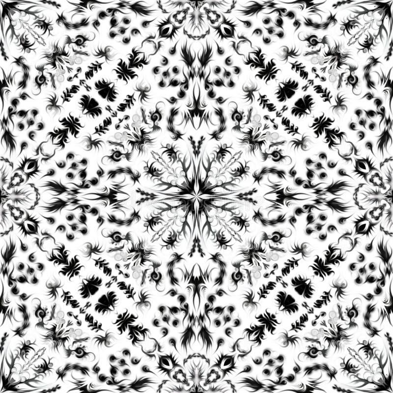 Textura inconsútil blanco y negro del embaldosado libre illustration