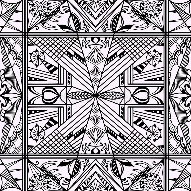 Textura inconsútil blanco y negro Modelo geométrico del vector stock de ilustración