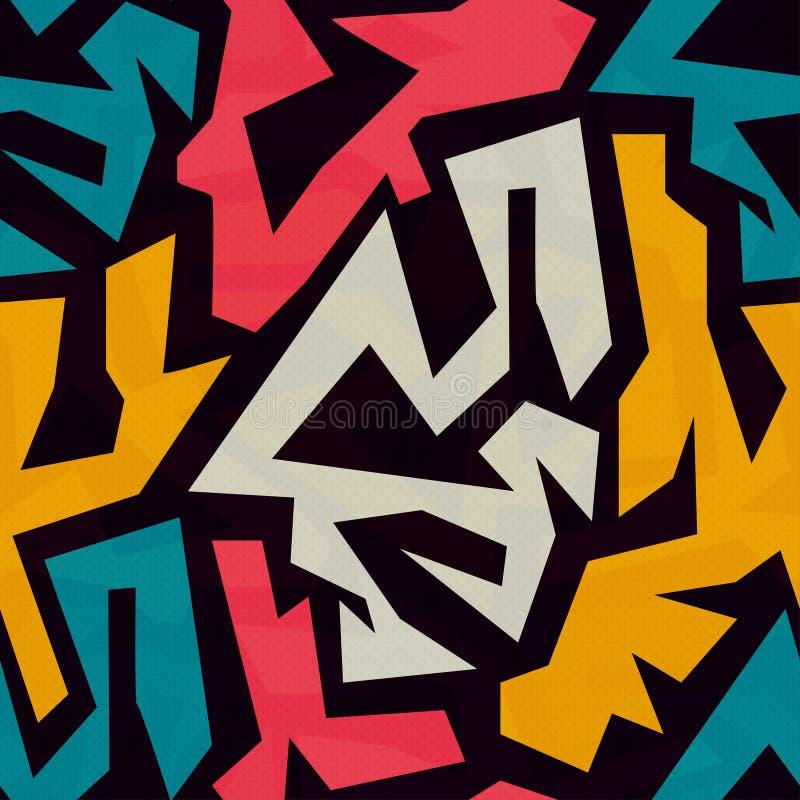 Textura inconsútil coloreada de la pintada ilustración del vector
