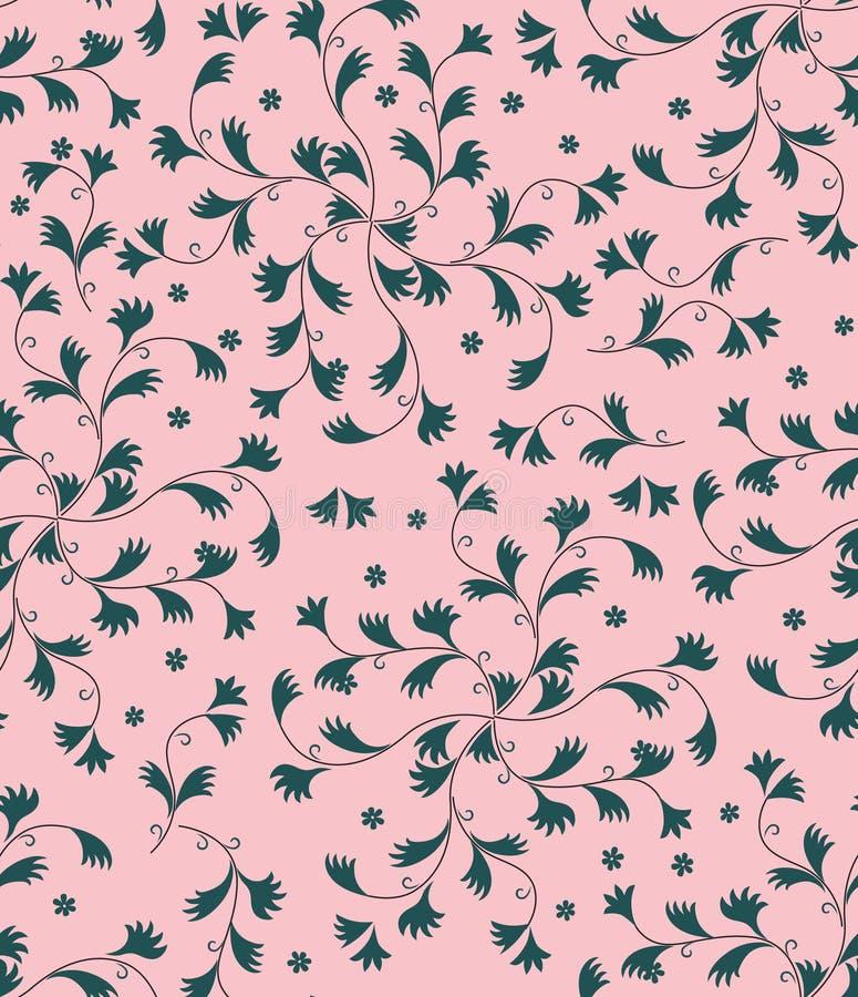 Textura inconsútil con el ornamento floral stock de ilustración